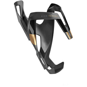 Elite Vico Bottle Holder Carbon, black matte/golden design